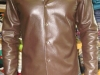 Lined Leather Shirt Front